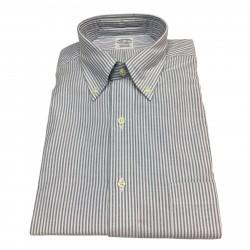 BROOKS BROTHERS camicia uomo oxford bianco/blu 100% cotone Supima MADE IN USA