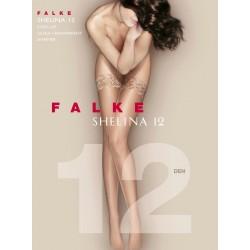 FALKE Women Stay Ups black with decorative lace mod 41526 SHELINA 12 den
