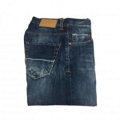 CARE LABEL jeans uomo mod 402 SLIM lavaggio heritagete 01 12 oz BLUE LINE