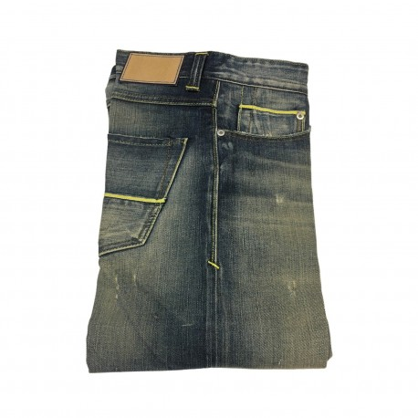 CARE LABEL jeans man mod BOY SLIM with cracks 98% cotton 2% elastane Made in Italy