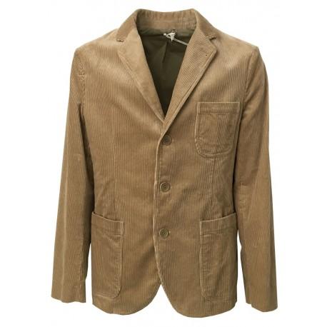 ASPESI men's jacket, velvet beige, model A CJ35 B826 MURAKAMI WINTER, 100% cotton, Slim fit
