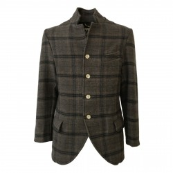 BKØ MADSON man jacket wool dove gray/gray mod DU18515 MADE IN ITALY