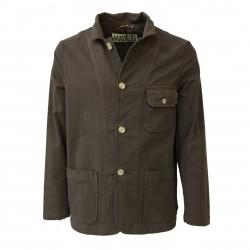 BKØ linea MADSON giacca uomo sfoderata castagna DU18518 97% cotone MADE IN ITALY