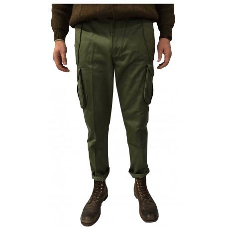 MANIFATTURA CECCARELLI pantalone uomo con tasconi laterali verde 75%cotone 25% poliestere MADE IN ITALY