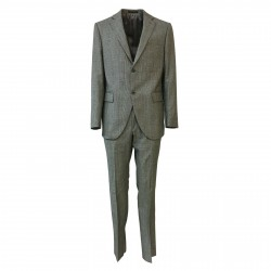 LUIGI BIANCHI MANTOVA men's suit 2 buttons 100% wool Prince of Galles 3039 MADE IN ITALY