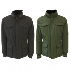 2SHIRTS.AGO man's field jacket with ecofur mod 18CHP31MPNMO1