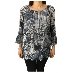 ELENA MIRÒ blouse woman fantasy blue 3/4 sleeve