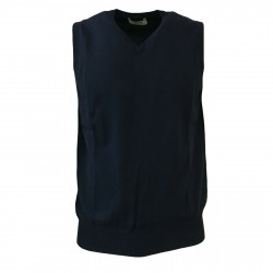 ALPHA STUDIO men's vest blu navy mod AU-7006F 100% cotton
