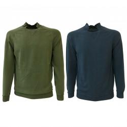 ALPHA STUDIO maglia uomo girocollo con colletto slim fit AU-7010CS 100% cotone