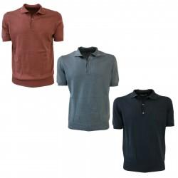 ALPHA STUDIO men's polo with hem mod AU-7008BS 100% cotton