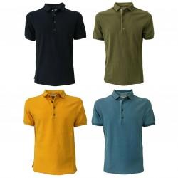 ALPHA STUDIO polo uomo jersey maniche corte AU-7451/BS 100% cotone