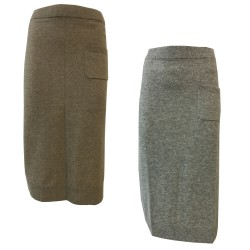 CA' VAGAN woman dove gray skirt 90% wool 10% cashmere 13602 MADE IN MONGOLIA