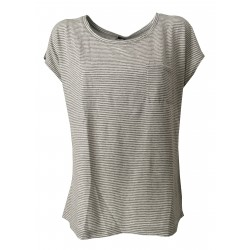 ASPESI t-shirt in gray / white striped, gray fabric, 100% cotton MADE IN ITALY