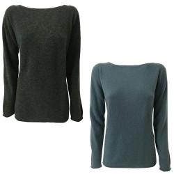 CA' VAGAN crew-neck sweater art 11028 70% wool 30% polyamide MADE IN ITALY