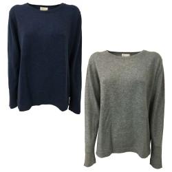 CA' VAGAN crew neck sweater art 13201BIS 100% cashmere MADE IN MONGOLIA