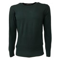 MONTAGUT maglia uomo colore verde girocollo 100% lana