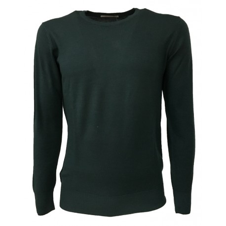 MONTAGUT SWEATERS MENS color green crew neck 100% wool