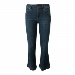 ATELIER CIGALA'S jeans donna leggero mod 15-119 BELL BOTTOM CROP MADE IN ITALY