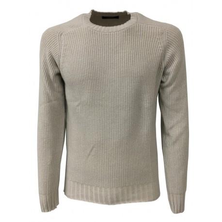 ALPHA STUDIO maglia uomo, colore ghiaccio, costa inglese mod AU-4230C 70% lana 30% cashmere