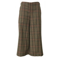 TADASHI short pants woman beige / black / bordeaux elasticated waist side pockets MADE IN ITALY