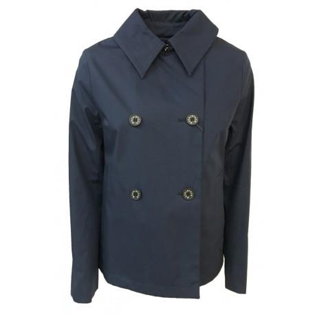 MACKINTOSH giaccone donna modello FULLARTON blu MADE IN SCOTLAND