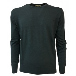 PANICALE anthracite men's sweater 70% wool 20% silk 10% cashmere MADE IN ITALY