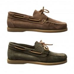 MAZE scarpa uomo sfoderata con lacci mod ADELMO VELOUR 100% pelle MADE IN ITALY