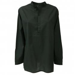 LABO.ART women's sweater black Korean neck mod ONU NEVE 100% cotton MADE IN ITALY
