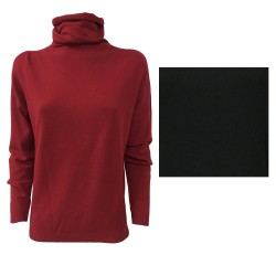 ELENA MIRÒ women's sweater with high neck 57% Nylon 43% Viscose