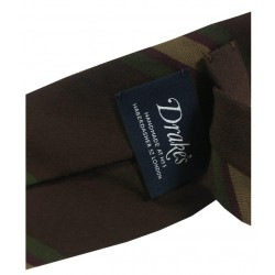 DRAKE'S LONDON man tie 8 cm unlined dark lines MADE IN ENGLAND
