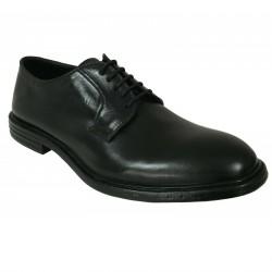 PAWELK'S scarpa uomo allacciata nero art 19004 PONY 100% pelle MADE IN ITALY