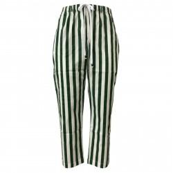 BKØ linea MADSON pantalone uomo righe verde/bianco mod DU19116 MADE IN ITALY