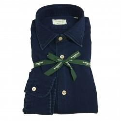 BORRIELLO NAPOLI man shirt 100% cotton blue art 8097 MADE IN ITALY