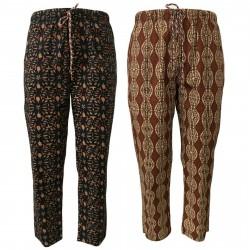 BKØ linea MADSON pantalone uomo fantasia con elastico art DU19118 MADE IN ITALY