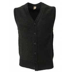 GRP men vest gray/brown 100% wool MADE IN ITALY