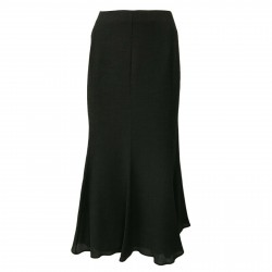 ELENA MIRÒ woman long anthracite elastic back skirt and side zip