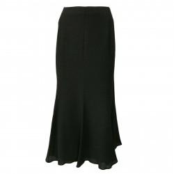 ELENA MIRÒ woman long anthracite elastic back skirt and side zip