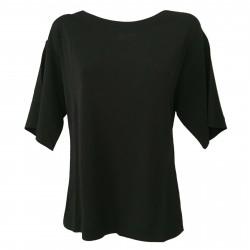 ALPHA STUDIO blusa donna nero con spacchi laterali 100% viscosa art AD-1502C