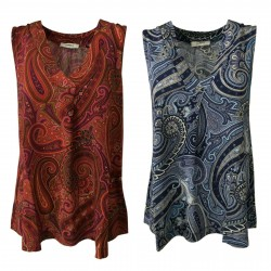 ALPHA STUDIO women's top sleeveless cashmere pattern 92% viscose 8% elastane art AD-161OA