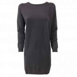 CA' VAGAN abito donna maglia uva 13800 90% lana 10% cashmere MADE IN MONGOLIA