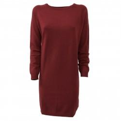 CA' VAGAN abito donna maglia bordeaux 13800 90% lana 10% cashmere MADE IN MONGOLIA