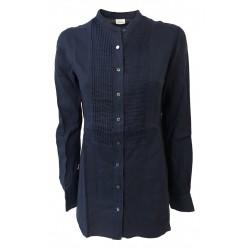 ASPESI blue woman shirt mod H H713 C195 100% linen