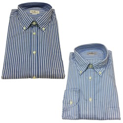 BRANCACCIO button-down man shirt NICOLA GOLD with pocket