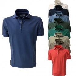 DELLA CIANA polo man half sleeve mod 43201 English green 100% cotton MADE IN ITALY