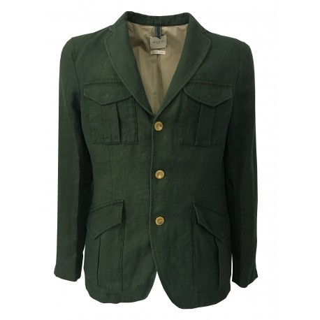 M.I.D.A - Green jacket with pockets and patch
