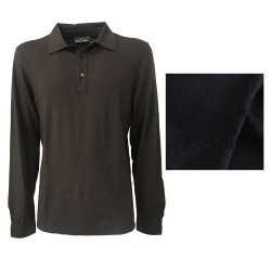 GIRELLI BRUNI polo man long sleeves 80% cotton 10% cashmere 10% silk