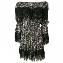 IL THE DELLE 5 woman dress dappled with lace art DORIS35 ST MADE IN ITALY