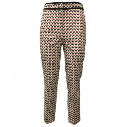 HANITA woman trousers cotton white/red art P893.2413 MADE ITALY