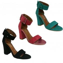 MAURIZIO BARRELLA women sandal art LISA CAMOSCIO 100% leather MADE IN ITALY