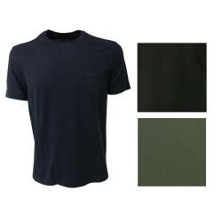 DELLA CIANA t-shirt uomo con taschino, colore blu 100% cotone vestibilità slim